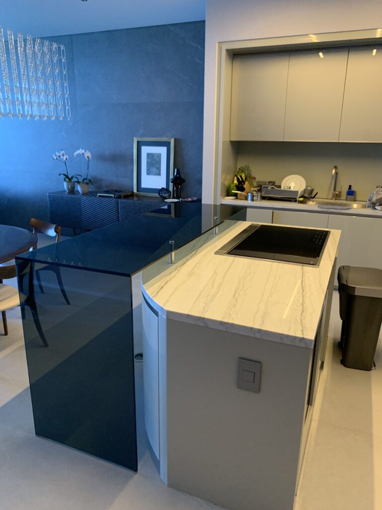 Gray Glass Counter